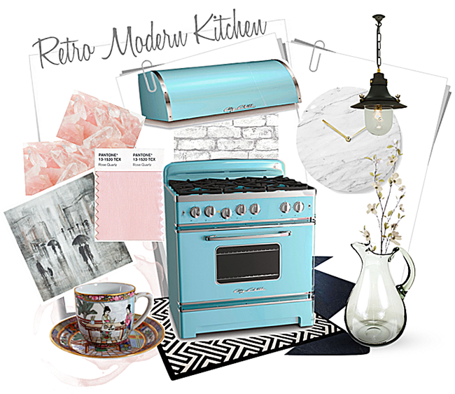Retro Modern Kitchen - Big Chill Beach Blue