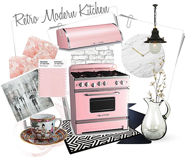 Retro Modern Kitchen - Big Chill Pink Lemonade